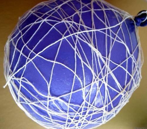 Как сделать из ниток воздушный шар