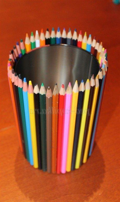 Карандашница из карандашей своими руками из 31