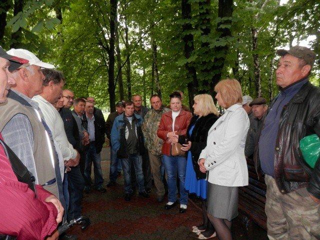 У Глобиному протестували чорнобильці