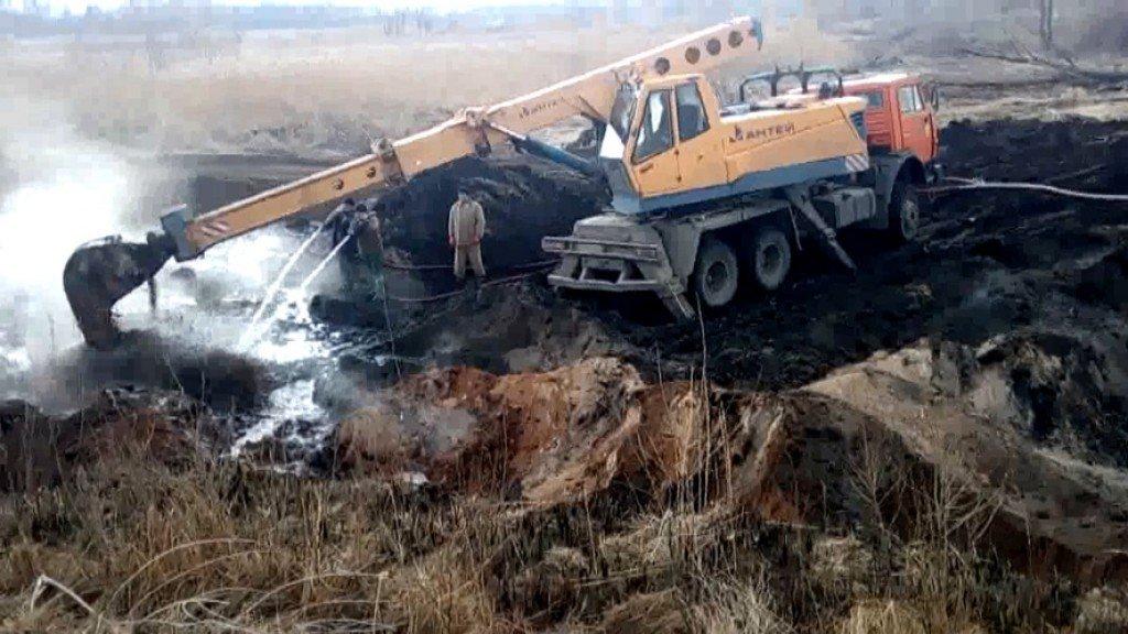 На Полтавщині горить торф (відео)