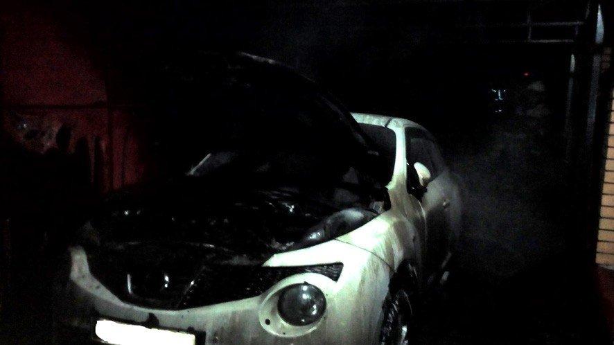У Полтаві горіла автівка