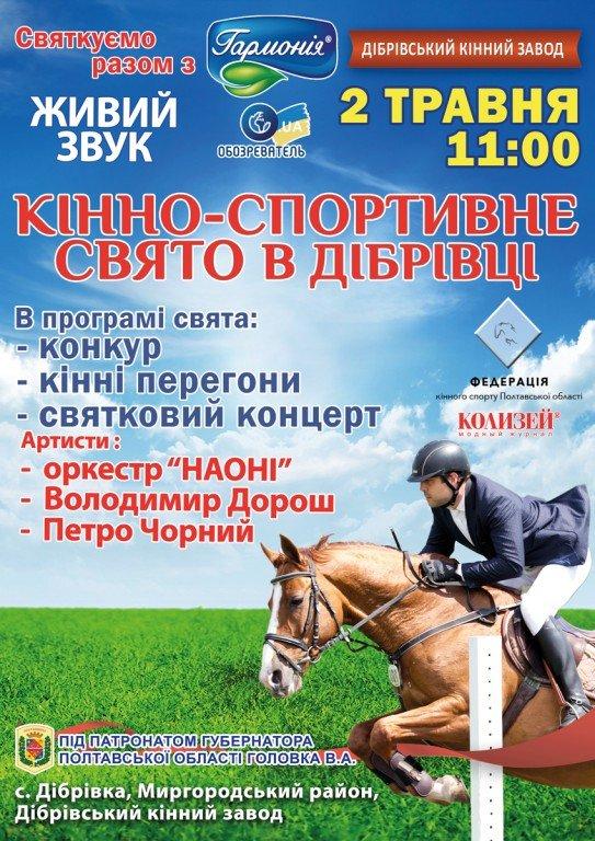 У Дібрівці на Полтавщині проведуть кінно-спортивне свято: програма