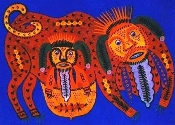 Мільярд років пройшло, а таких мавп не було (1986), Марія Приймаченко (з сайту ukrmystetstvo blogspot com