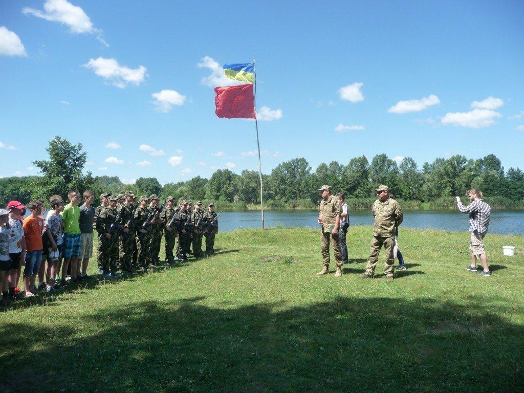 Військові влаштували польовий збір для полтавських школярів