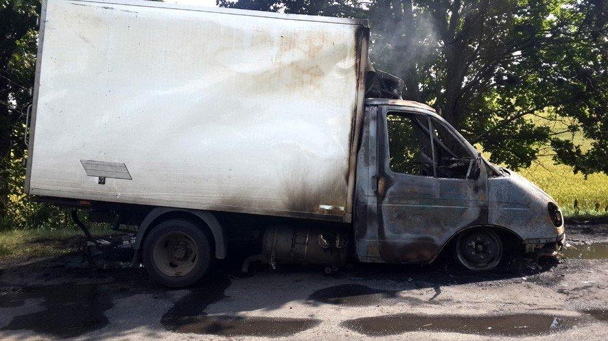 На Полтавщині горіла вантажівка