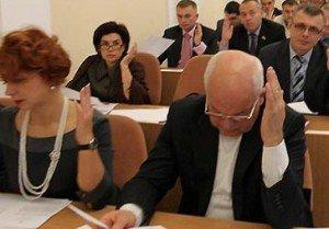 """""""За"""" проголосував 31 депутат з 34 присутніх. Фото з сайту kolo.poltava.ua"""