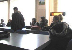 Студенти цього вишу під час занять, сьогодні, 31 січня. Фото Ніни Король