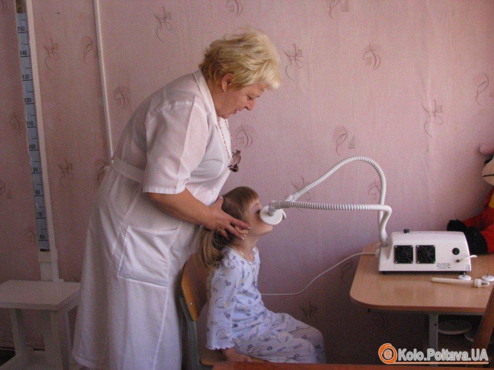 У дитсадку №10 Полтави лікують нежить за допомогою УВЧ-терапії