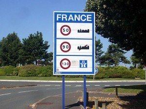 Обмеження швидкості у Франції