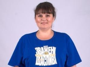 Альона Лаптєва на початку проекту. Нині вона найлегша на проекті, важить 85 кіло. Фото big.stb.u