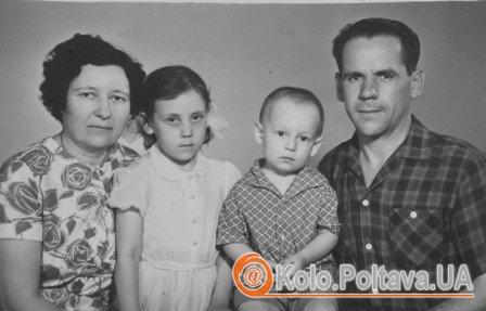 Із дружиною та дітьми