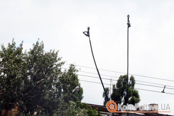 Спеціальні роги від'єдналися від електричних ліній