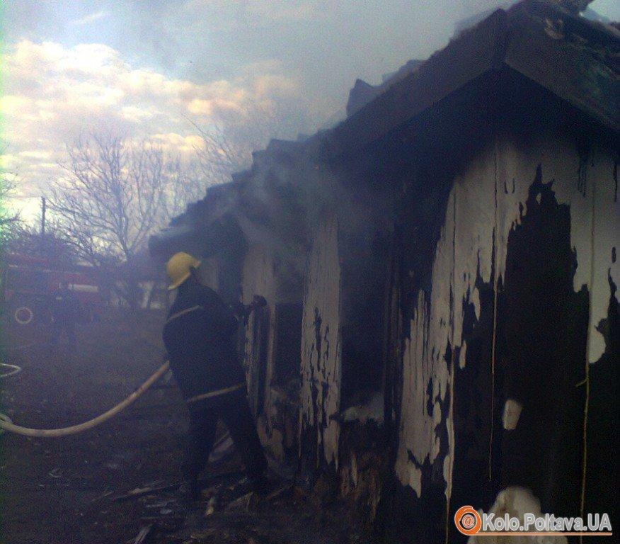 Фото з місця пожежі (зі сайту УДСНС у Полтавській області)