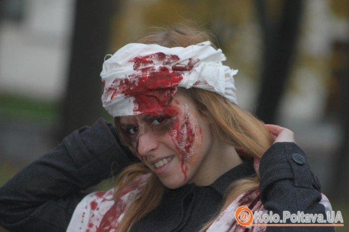 Більше сотні полтавців прийшли на зомбі-парад