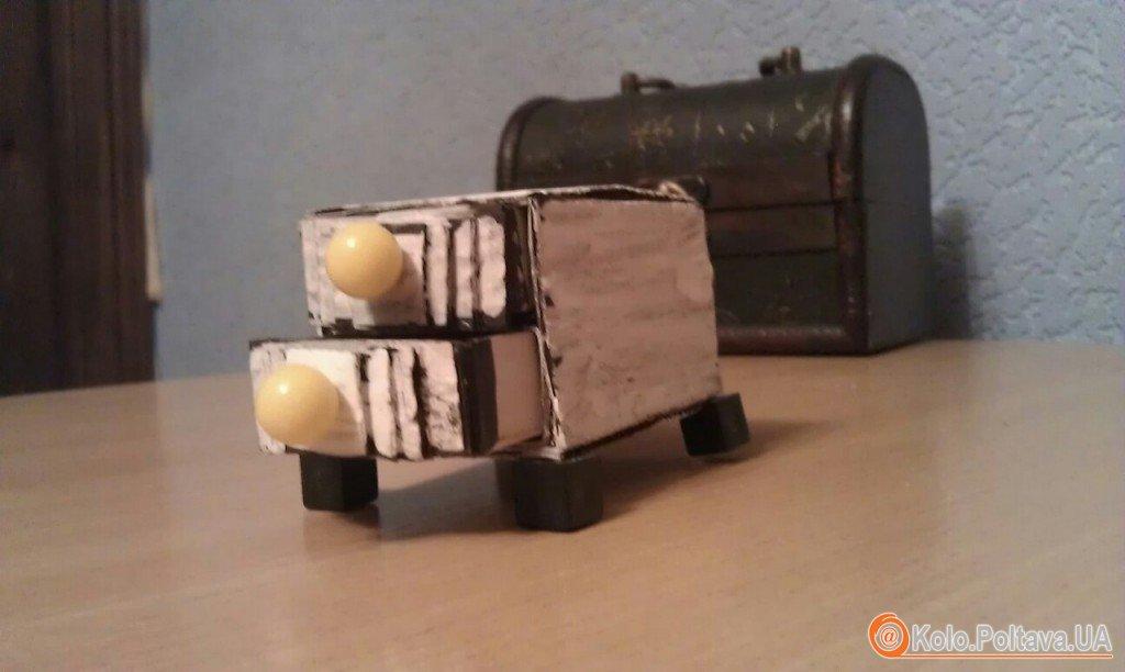 Комод для дрібничок із сірникових коробок