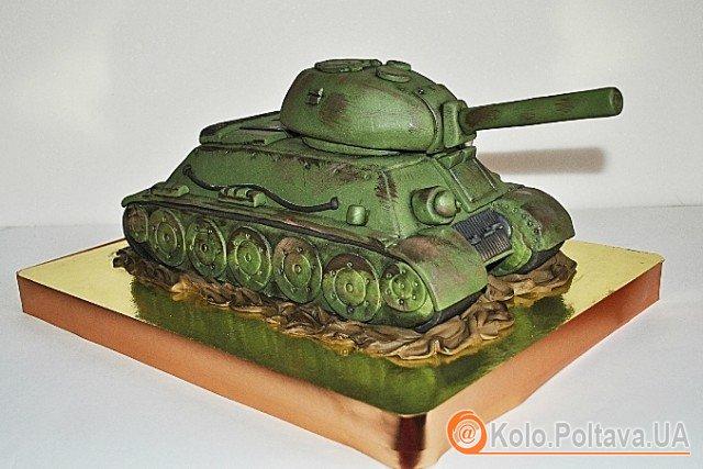 Торт-танк смакуватиме військовим. фото www.babyblog.ru