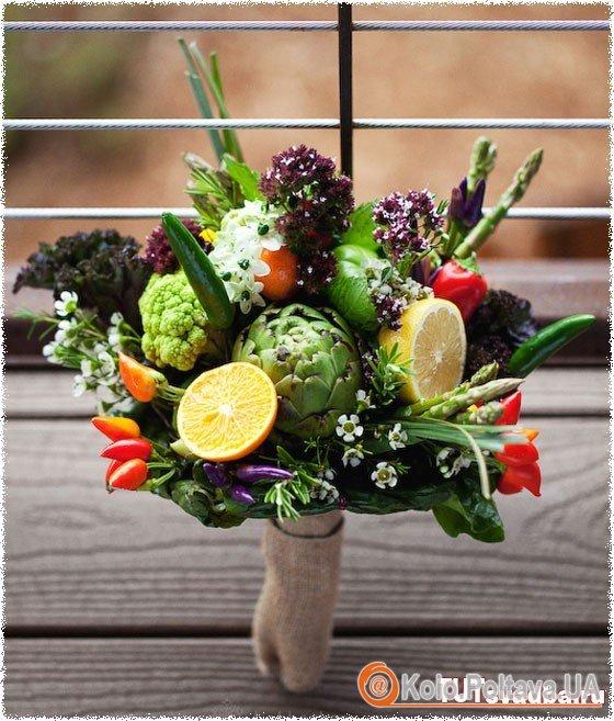 Овочевий букет – смачний обід та цікавий подарунок