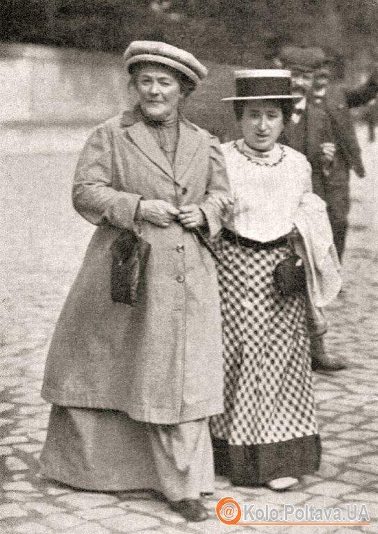 Клара Цеткін (зліва) та Роза Люксембург. Фото ru.wikipedia.org
