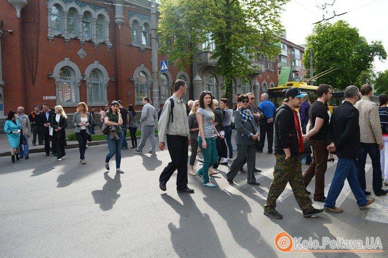 Полтавці перекрили дорогу, протестуючи проти будівництва (відео)