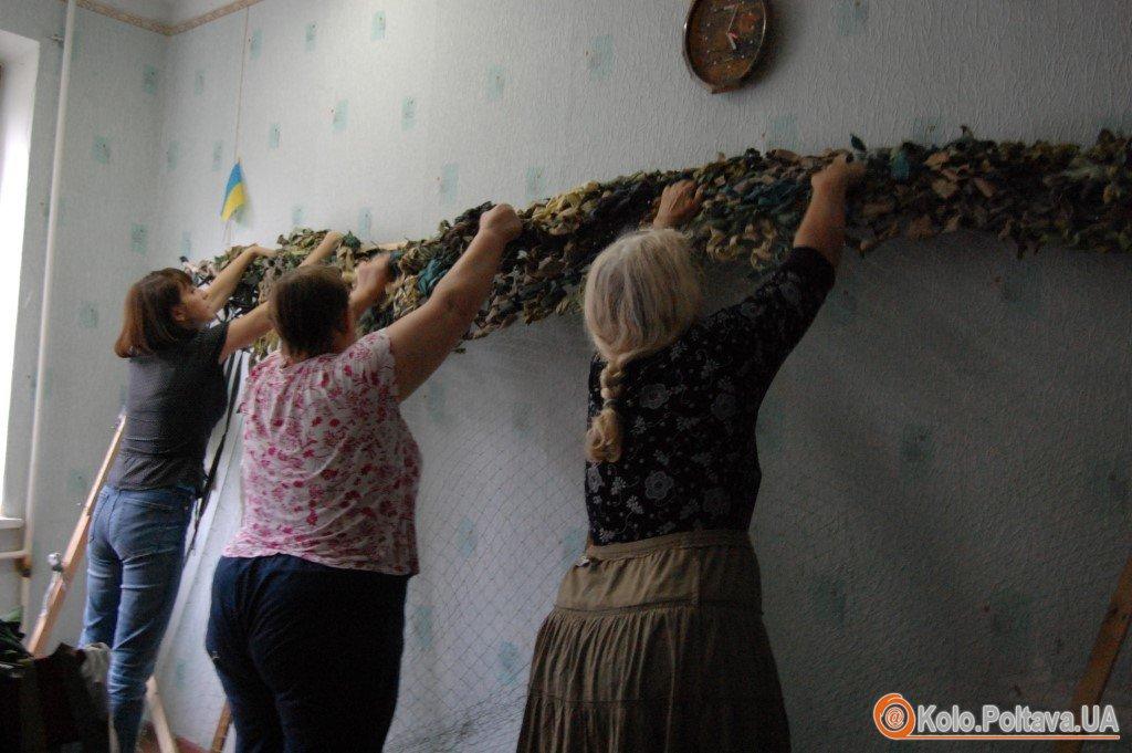 Маскувальні сітки від полтавських майстринь допомогли не одному українському солдату