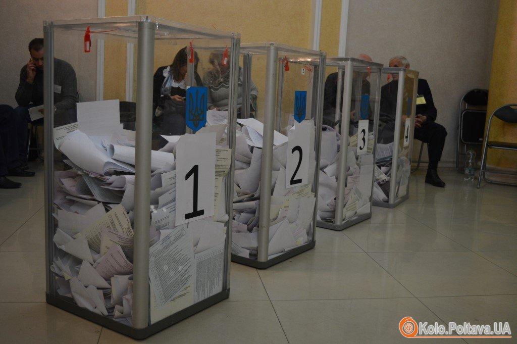 На дільницях Полтави завершилося голосування (ФОТО)