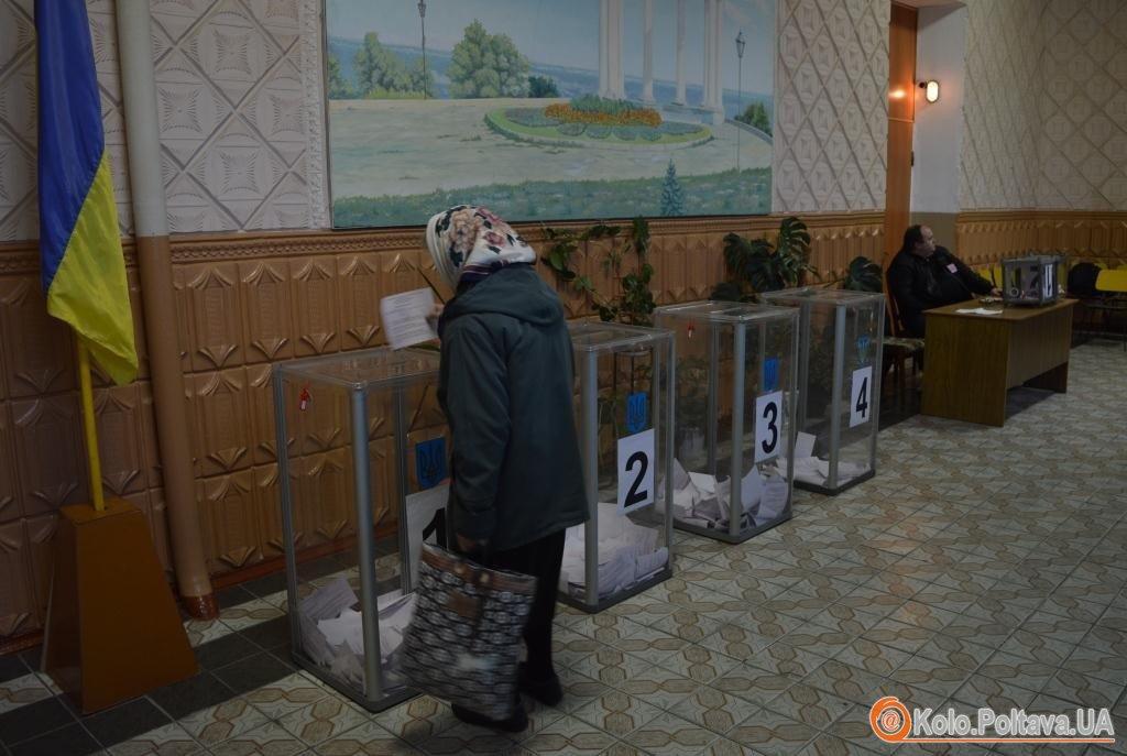 Голови ДВК Полтави явка виборців під час потворного голосування низька