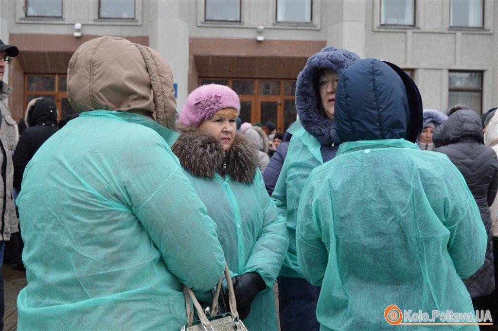 А віз і нині там Полтавафарм мітингує біля Полтавської ОДА