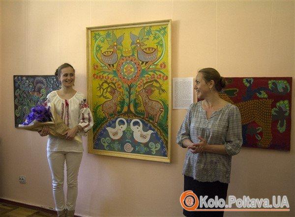 Роксолана разом з науковим співробітником у Полтавському літературно-меморіального музею В.Г. Короленка Людмилою Вітенко