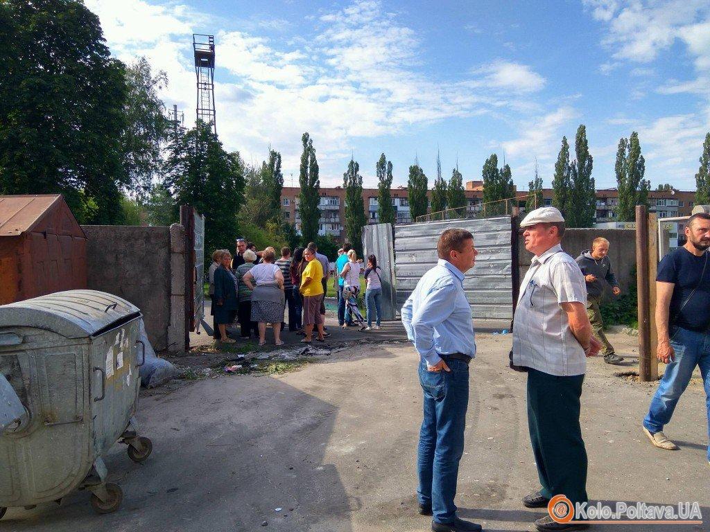 У Полтаві жителі «Подолу» самостійно намагались зупинити незаконне будівництво