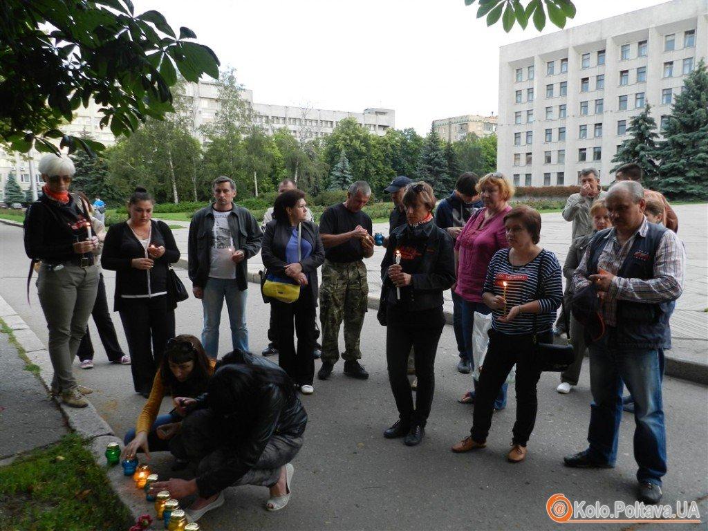 У Полтаві запалили свічки вшанували полеглих в АТО 12 червня (ФОТО)