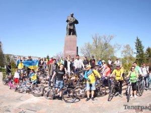 Фото: У Кременчуці пройшов велопробіг на захист графіті Шевченка